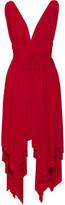Norma Kamali Goddess Asymmetric Stretch-jersey Dress - Red