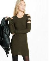 Express slashed midi sweater dress