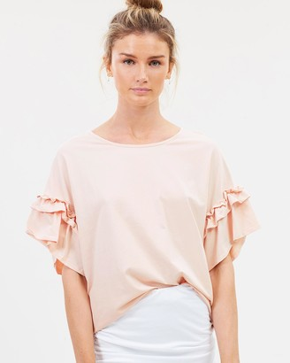 Lincoln St The Frill Cuff Tee