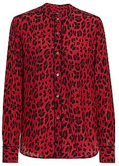 Rails Women's Lillian Leopard Print Blouse