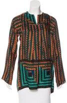 Anna Sui Silk Geometric Print Tunic