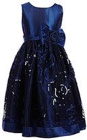 Jayne Copeland Little Girls 2T-6X Floral Bow Dress