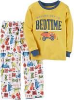 Carter's Boys' 12 Months-12 2 Piece Bedtime Construction Print Pajama Set