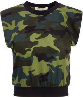 Alice + Olivia camouflage print T-shirt