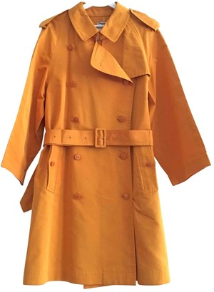 Chanel Orange Synthetic Trench coats