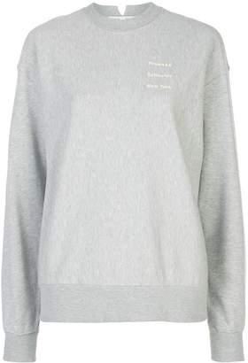 Proenza Schouler White Label grey crew-neck logo sweatshirt