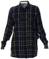 Off-White Blue Check Long Shirt