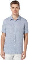 Perry Ellis Men's Chambray Short-Sleeve Shirt