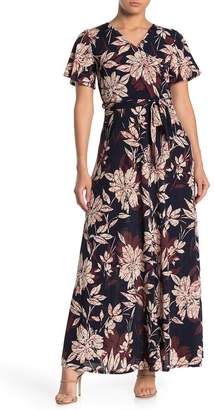 WEST KEI Floral Short Sleeve Maxi Dress