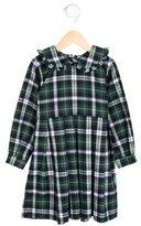 Rachel Riley Girls' Pleated Plaid Dress