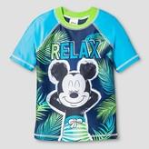 Mickey Mouse Toddler Boys' Disney® Mickey Mouse Rash Guard - Blue