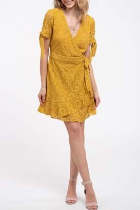 Blu Pepper Lace Wrap Dress