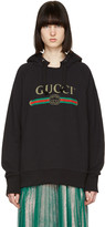 Gucci Black blind For Love Tiger Logo Hoodie