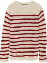 The Elder Statesman Picasso Striped Cashmere Sweater - Off-white
