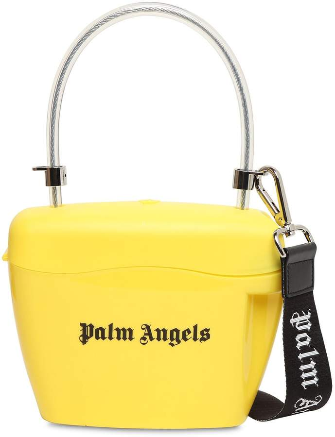 Palm Angels LOGO PRINTED TOP HANDLE BAG