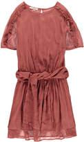 Sessun Elias Ruffle Embroidered Dress