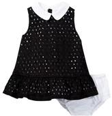 Kate Spade Eyelet Dress & Bloomer Set (Baby Girls)