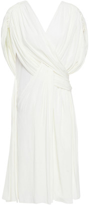 Lanvin Draped Twist-front Cady Dress