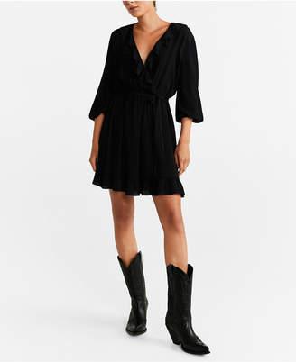 MANGO Short Ruffled Dress
