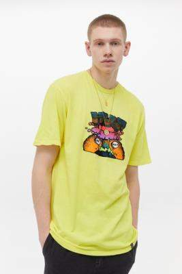 HUF Pulp Yellow Short-Sleeve T-Shirt - yellow S at Urban Outfitters