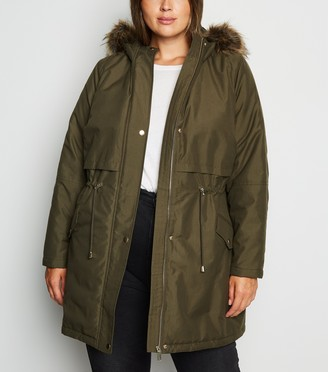 New Look Curves Hooded Longline Parka
