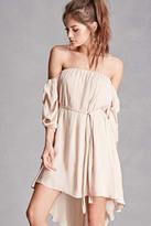 Forever 21 FOREVER 21+ Satin Off-the-Shoulder Dress