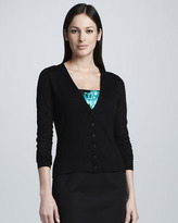 T Tahari Sable Button-Front Cardigan Sweater