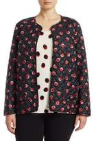 Marina Rinaldi, Plus Size Plus Dot-Print Quilted Jacket