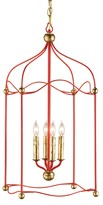 The Well Appointed House Red Carousel Lantern - CURRENTLY ON BACKORDER - CALL FOR AVAILABILITY
