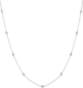 Diamond Select Cuts Diana M. Fine Jewelry 14K 0.90 Ct. Tw. Diamond By The Yard Necklace