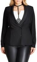 City Chic Plus Size Women's Relaxed Tuxedo Jacket