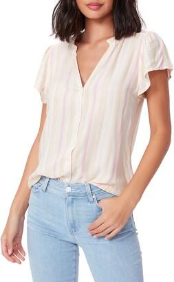 Paige Remy Stripe Button Front Top