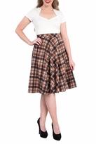 Steady Clothing Plaid Circle Skirt