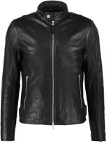 J.lindeberg Trey Leather Jacket Black