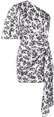 SOLACE London Marcie octopus print mini dress