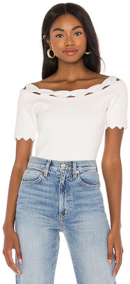 MILLY Kyhl Twist Trim Top