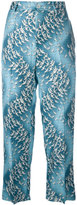 F.R.S For Restless Sleepers - birds print pants - women - Silk - S