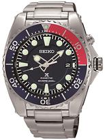 Seiko Ska369p1 Prospex Date Bracelet Strap Watch, Silver/black