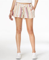 Roxy Juniors' Striped Drawstring Beach Shorts