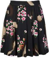 Moschino pleated floral skirt