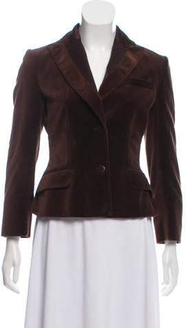Philosophy di Alberta Ferretti Velvet Button Up Blazer