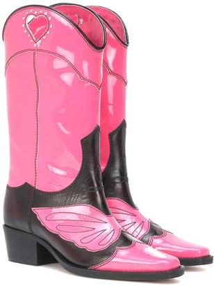 Ganni Marlyn leather cowboy boots