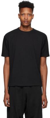 Issey Miyake Black Tucked Stripe T-Shirt