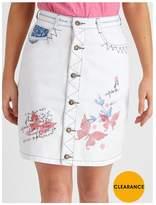 Joe Browns Button Though Applique Skirt