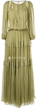 Maria Lucia Hohan Buttoned Maxi Dress