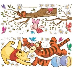 York Wall Coverings York Wallcoverings Winnie The Pooh Swinging For Honey Peel and Stick Giant Wall Decals