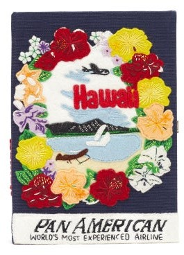 Olympia Le-Tan Pan-american Airways Embroidered Book Clutch - Black Multi