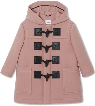 Burberry logo detail duffle coat