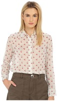 Marc by Marc Jacobs Cherry Pindot Voile Button Up Shirt