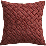 "CB2 Jersey Interknit Wine 20"" Pillow With Feather Insert"